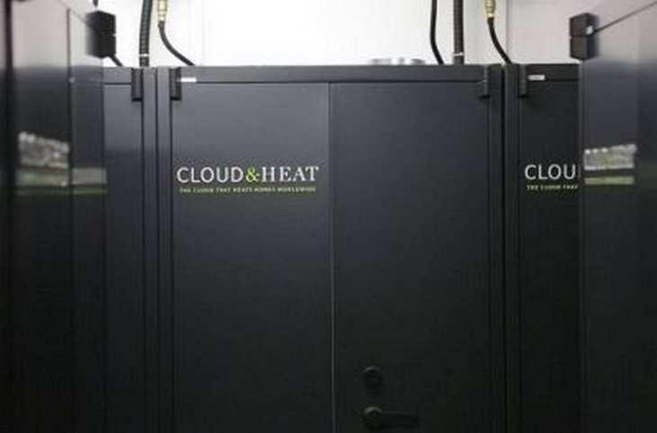 Cloud+Heat stellt Serverschränke in Wohn- und Geschäftsgebäuden auf, die reichlich vorhandene Abwärme der Rechner wird für die Heizung der Gebäude genutzt.