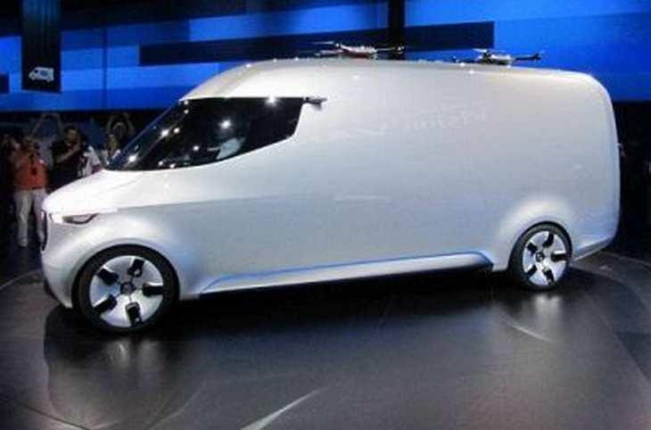 Daimlers Entwurf vom Van der Zukunft enthält unter anderem eine Vollautomatisierung, Drohnen und Roboter. Bild und Copyright: Johannes Stoffels, www.4investors.de.