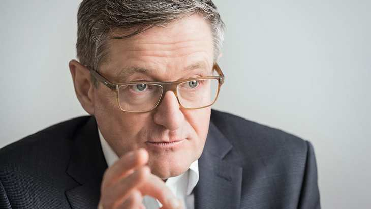 Jürgen Hermann, Vorstandsvorsitzender der QSC AG, im Interview mit der 4investors-Redaktion. Bild und Copyright: Steinhoff.