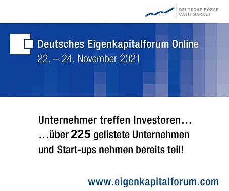 Deutsches Eigenkapitalforum Online 2021